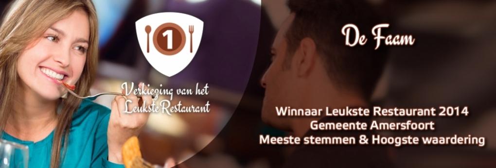 Verkozen tot 'Leukste Restaurant' van Amersfoort 2014